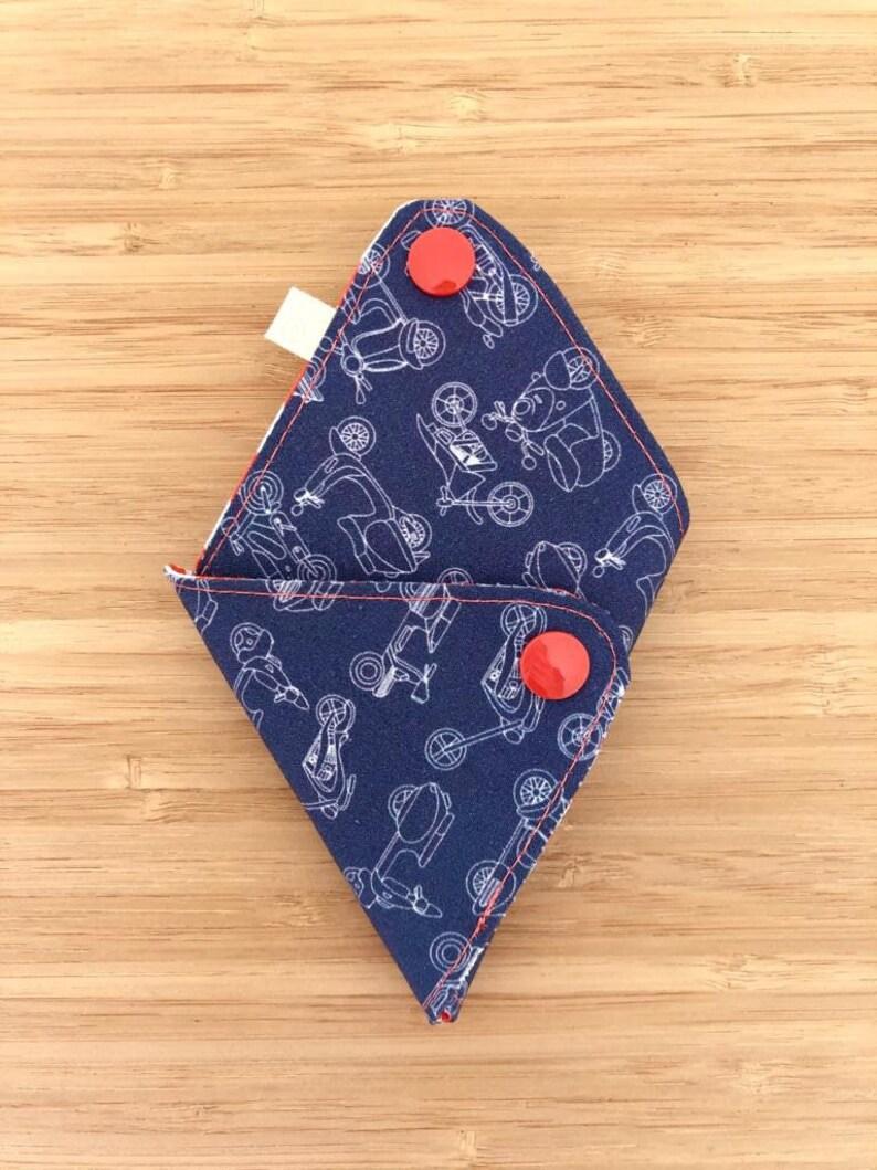 Vespa Purse Roman Holiday Triangle Origami Coin Purse Colorful Minimalist Pouch Handmade Fabric Purse Orange Stripes Coin Purse