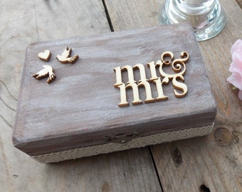 Ring box date - ring chest, ring cushion, rings, wedding, wedding, ring box, ring box, wedding décor, ring chest