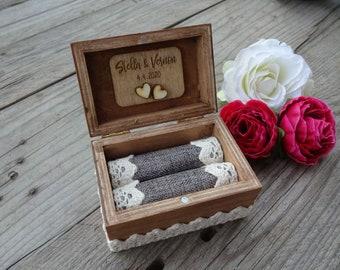 personalized ring box - wedding / wedding / ring chest / ring box / ring box / wooden box / wood box / wedding decoration / ring pilloew