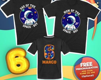 Mom Dad And Son Birthday Shirts, Personalized Space Birthday Shirts, Matching Birthday Name Shirts, 6th Birthday Boy Space Shirt, Space Bday