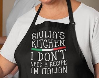 Personalized Italian Grandma Baking Apron - Customized Baking Gifts For Mom - Nana Customized Baking Apron - Personalized Nana Baking Apron