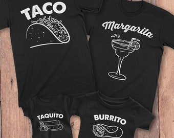 Taco and Taquito Shirts, Matching Shirts for Family, Matching Spanish Christmas Shirts, Matching Outfits for Family, Taco Burrito Taquito