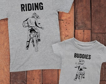 Daddy And Me Riding Buddies Shirts - Father Son Shirts - Matching Dad And Son - Dad And Kid Shirts - Dad Baby Matching Outfit - Father's Day