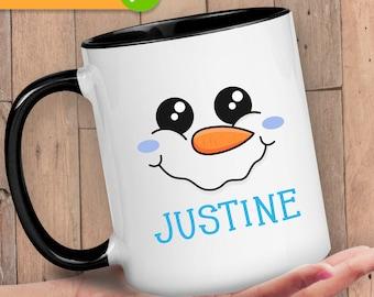Christmas Coffee Cup, Mug with Name On It, Mug for Family, Coffee Mug for Christmas, Stocking Stuffer for Women, Secret Santa Gifts for Kids