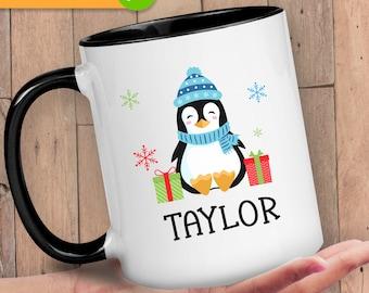 Family Mugs Personalized, Mug with Name On It, Mug for Family, Coffee Mug for Christmas, Stocking Stuffer for Kids, Christmas Mug Set Family
