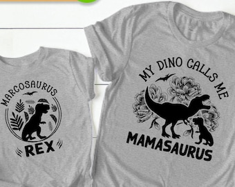 Mom and Son Matching Shirts, Mommy and Son Matching, Mommy and Son Shirts, Personalized Dinosaur Shirt Toddler, Funny Mom Shirt, Mom of Boys
