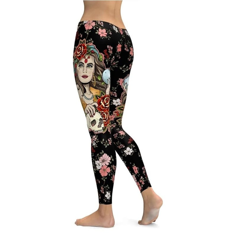 Yoga pants Colorful Yoga Pants High Waist Gymnastic Leggings Comfortable Rainbow Printed Handmade Stretch Workout Tights Activewear