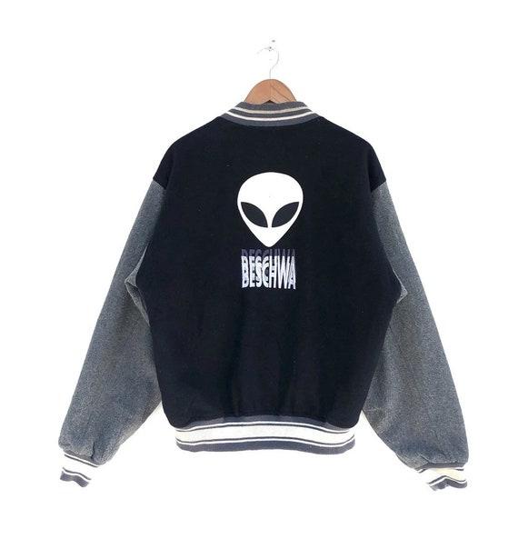 Vintage 90s Beschwa Alien Workshop Varsity Jacket