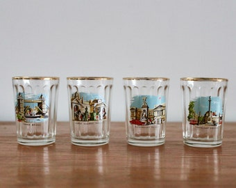 Vintage 1980/'s Shot Glass from Espa\u00f1a Tourist Memorabilia  Spain