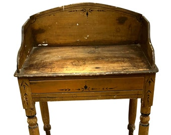 Charming Old Antique Victorian Painted Hall Table, Washstand, Side, Console
