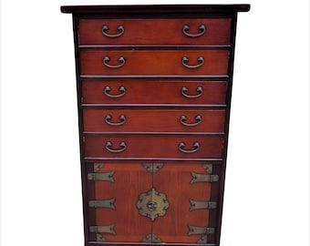 Stunning Vintage Oriental Chinese Tallboy, Storage Cupboard, Chest of Drawers