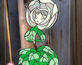 20x16 custom animeanimated glass painting