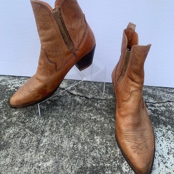 Father & Son Vintage Low Ankle Cowboy boots