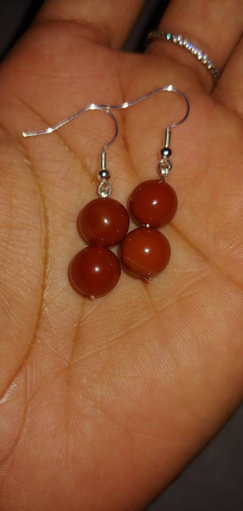 Valentines Day Gifts for Her Healing Crystal Jewelry New Moon Earring Set Full Moon Carnelian Crystal Earrings Intention Set