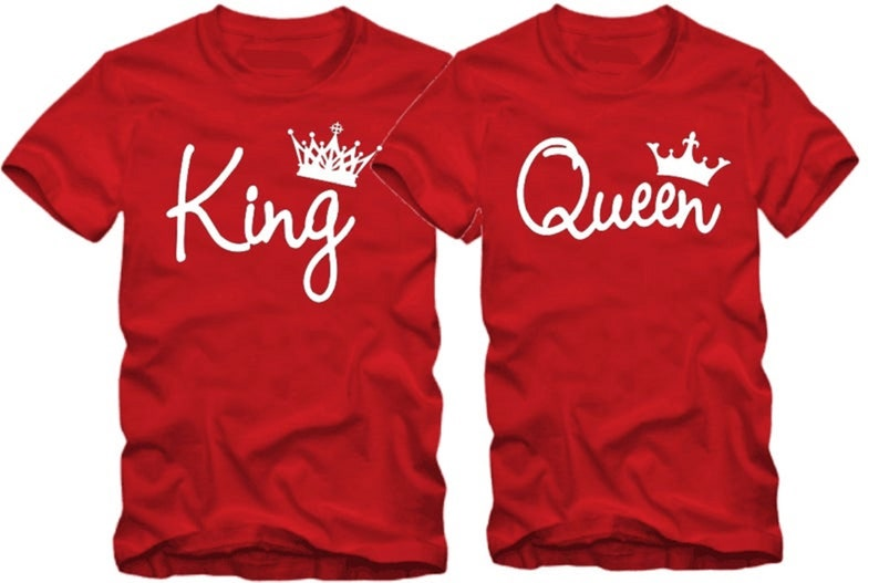 SAVE 10USD on King /& queen Couple tshirts,Matching t-shirt for couples,Anniversary gift,Short sleeves shirt