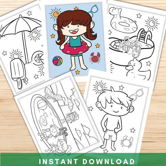 Swimming Pool Coloring Pages Printable Coloring Pages Pool