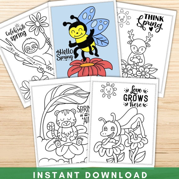 Spring Coloring Pages for Kids Printable Spring Animal