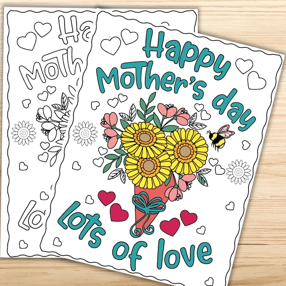 Mother's Day Coloring Pages for Kids Teens Adults