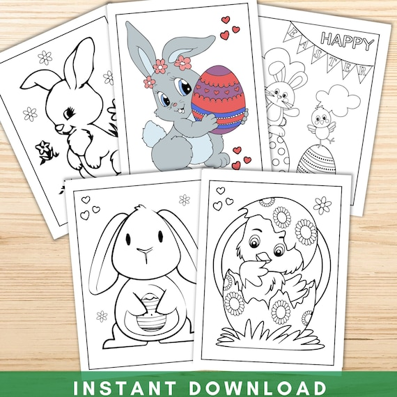 Easter Coloring Pages for Kids Printable Coloring Pages