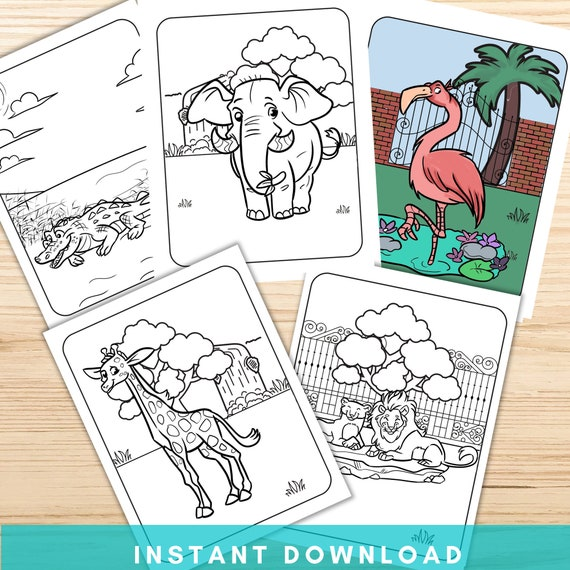 Zoo Animals Coloring Pages Printable Animal Coloring Pages
