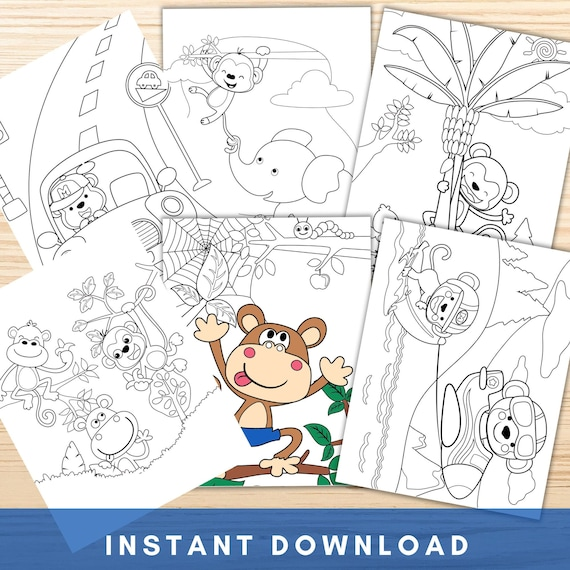 Monkey Coloring Pages Printable Kids Coloring Pages Monkey