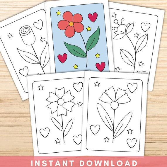 Simple Flower Coloring Pages for Kids  Flower Coloring Pages