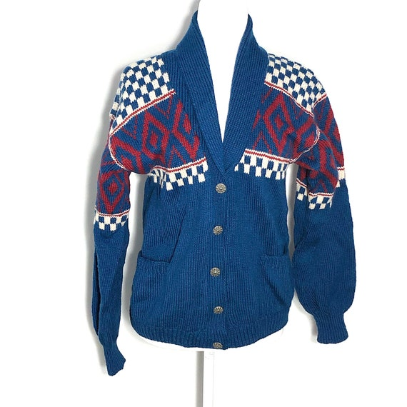 Vintage 1960's Hand-knitted Fair Isle Sweater