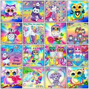 Round Drill Diamond Dotz Cross Stitch Mosaic Home Decor Kids Gift 16 Designs Owl Cartoon 5D DIY Diamond Painting Kit Embroidery