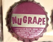 Vintage NuGrape Cork-Backed Bottle Caps 6-Packs
