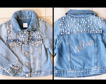Personalized and Custom Pearl Jean Jacket for Babies, Toddlers and Kids