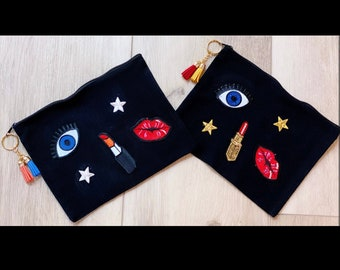 Personalized Makeup Cosmetic Bag   Fashion Accessory   Bling It On Design