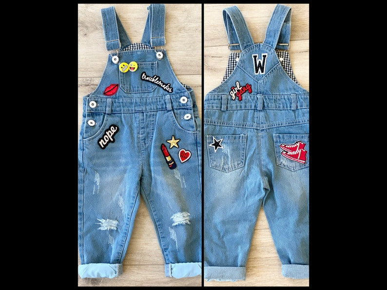 Custom Denim Overalls for Babies Toddlers and Kids image 0