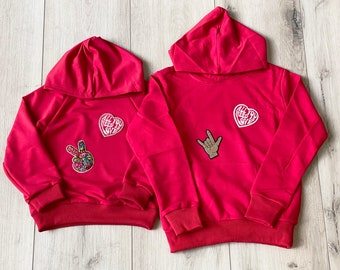 Valentine's Day Hoodie for Toddlers and Kids