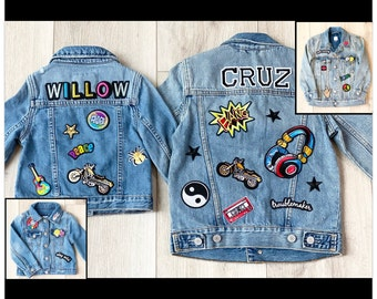 Custom Jean Jacket for Babies, Toddlers & Kids   Personalized Denim Jackets