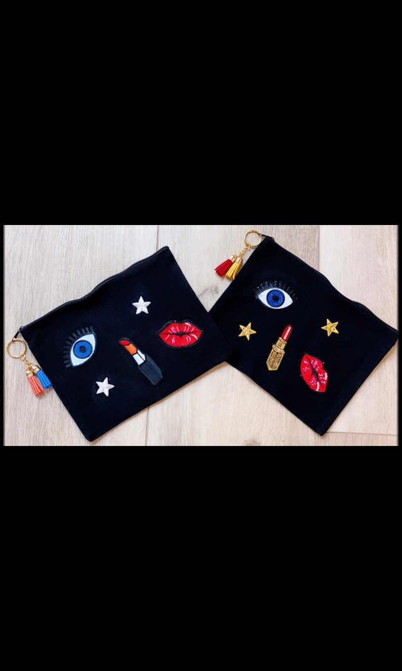 Personalized Makeup Cosmetic Bag  Fashion Accessory  Bling image 0