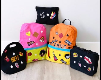 Personalized and Custom Backpack Set for Toddlers and Kids