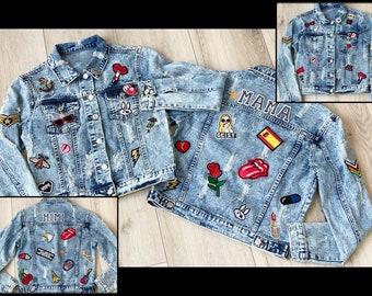Custom Jean Jacket for Teens & Adults   Personalized Denim Jackets