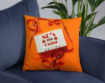 80's Child Decade Pillow Cushion