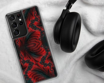 Red Flames Samsung Case