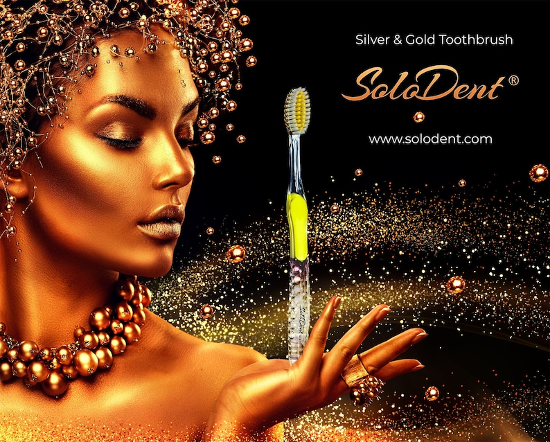 Solodent Toothbrushes UltraSoft Silver & Gold 1pk. image 0