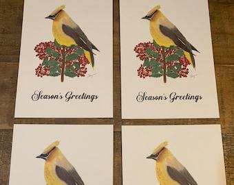 Assorted Red Larkspur /& Cedar Note Cards Set of 4