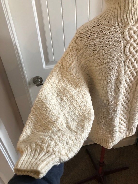 Vintage wool sweater, vintage sweater, cable knit… - image 2