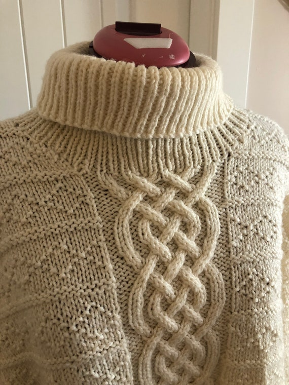 Vintage wool sweater, vintage sweater, cable knit… - image 1