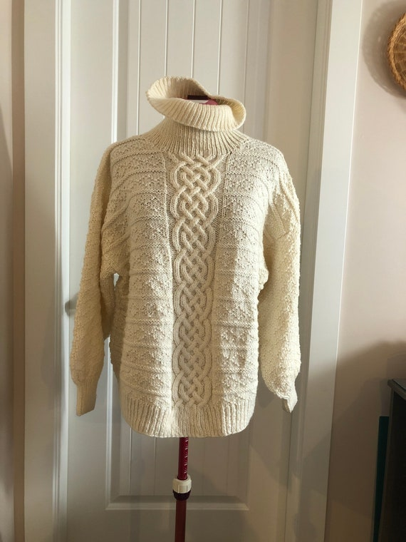Vintage wool sweater, vintage sweater, cable knit… - image 4