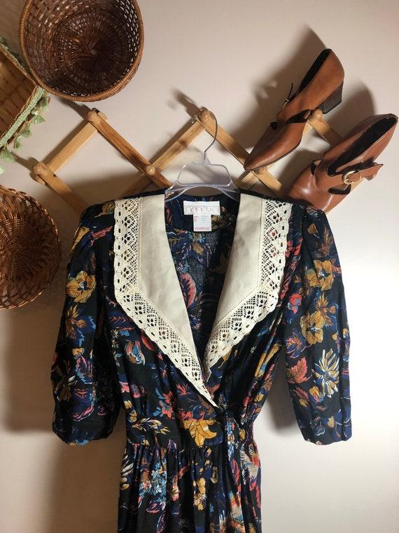Vintage Cottagecore Victorian Dress Prairie Victoriana