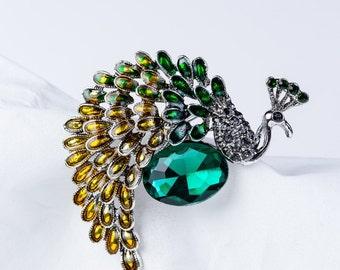 Magic peacock brooch Handmade Peacock brooch.