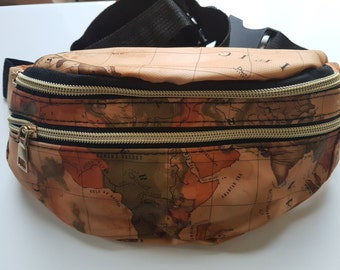 Stunning Map Design Fanny Pack Bum Bag. Waist bag for Women. Women's Bum Bag. Great gift for Travel Lovers.