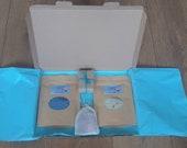Bath Salts Letterbox Gift with free rose petal bath teabag