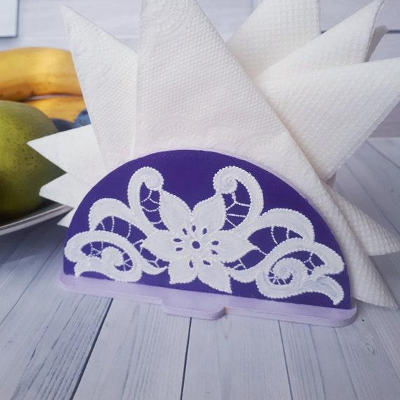 Napkin holder Napkin holder with painting beautiful napkin holder convenient napkin holder table napkin holder