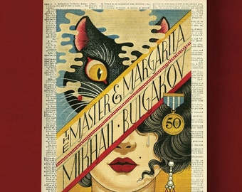 Wide ring Witch Russian literature The Master and Margarita silver ring Mikhail Bulgakov hippo cat